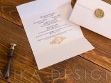 invitatie nunta cu sigiliu auriu