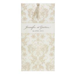 Invitatie nunta design baroc auriu - poza 1