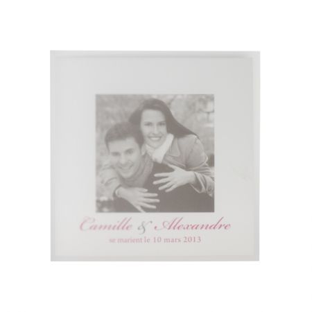 Invitatie nunta cu coperta transparenta cu poza mirilor - poza 1