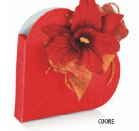 Cutie sub forma unei inimi de culoare rosu - poza 1