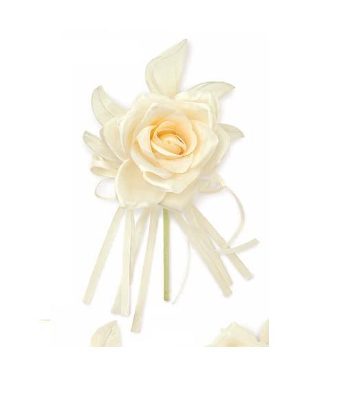 Marturie nunta trandafir matase crem cu migdale glazurate - poza 3