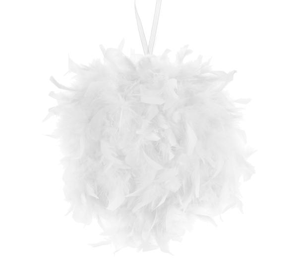 Bila decorativa din pene albe (mica) - poza 2