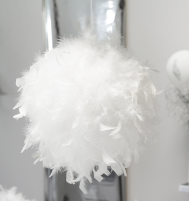 Bila mare pene decorative albe - poza 2