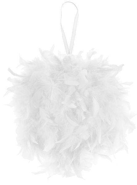 Bila mare pene decorative albe - poza 5