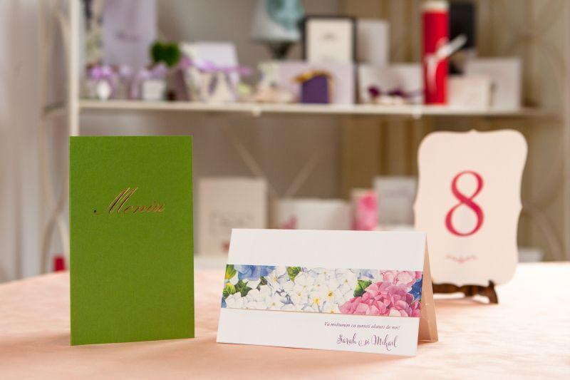 Card bani nunta cu hortensii - poza 2