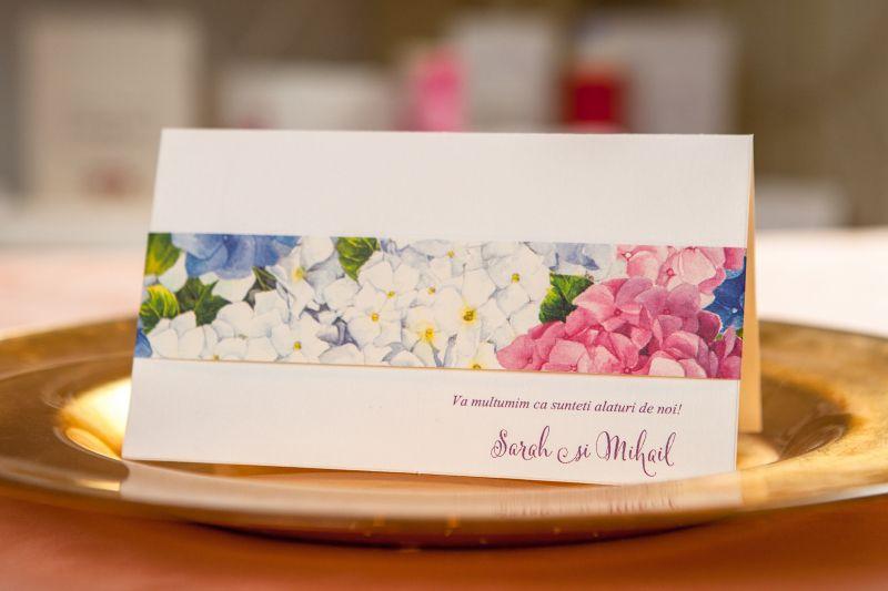 Card bani nunta cu hortensii - poza 1