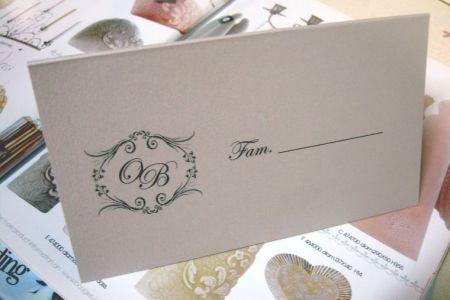 Plic pentru bani de nunta cu monograma miri - poza 2