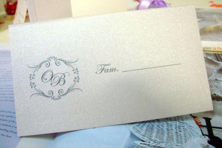 Plic pentru bani de nunta cu monograma miri - poza 1