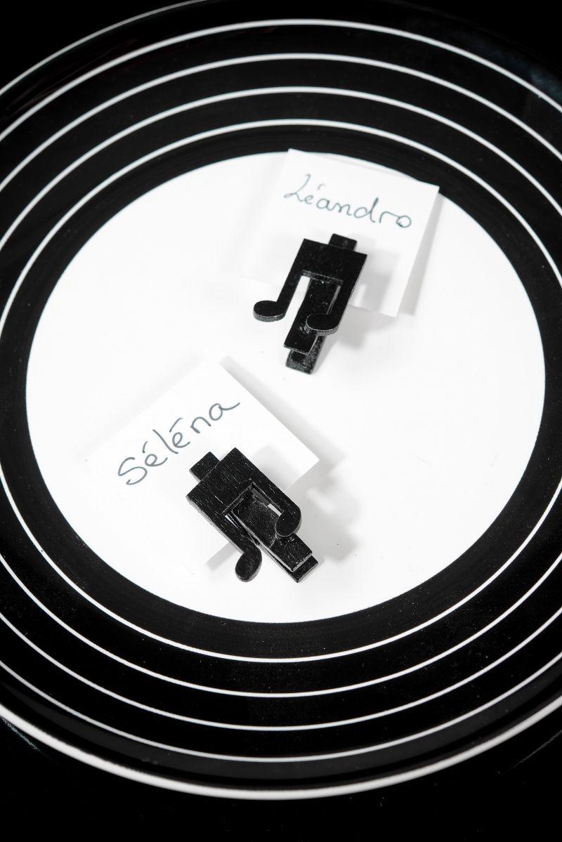 Clestisor negru note muzicale - poza 2