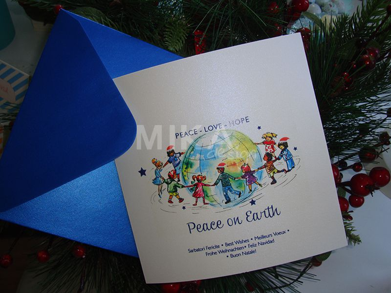 Felicitare Craciun Peace on Earth - poza 6