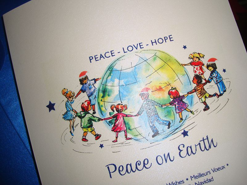 Felicitare Craciun Peace on Earth - poza 3