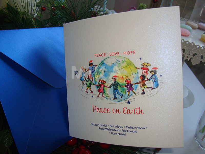 Felicitare Craciun Peace on Earth - poza 4