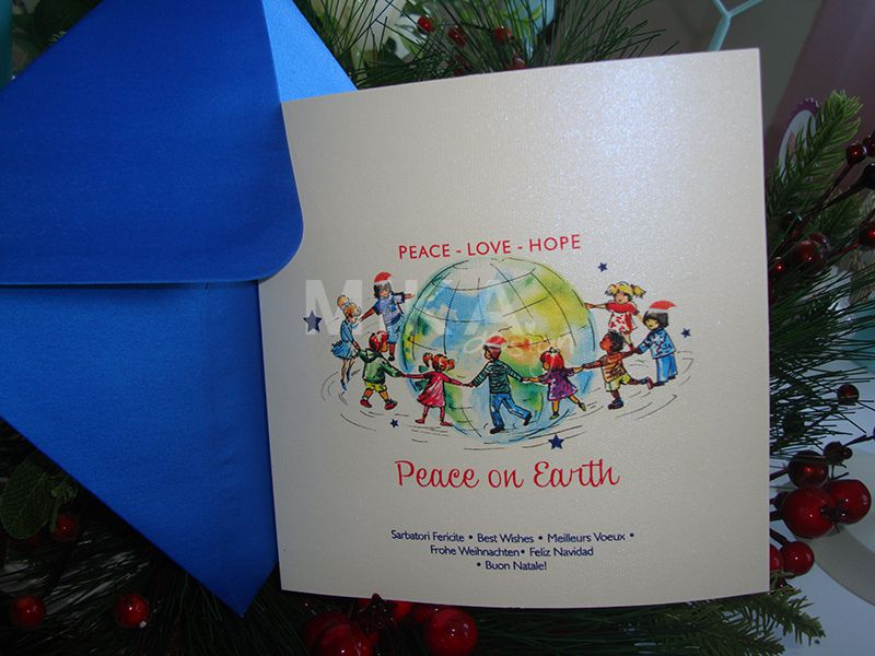 Felicitare Craciun Peace on Earth - poza 2