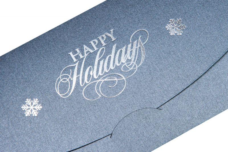 Felicitare Craciun business  eleganta argintie - poza 1