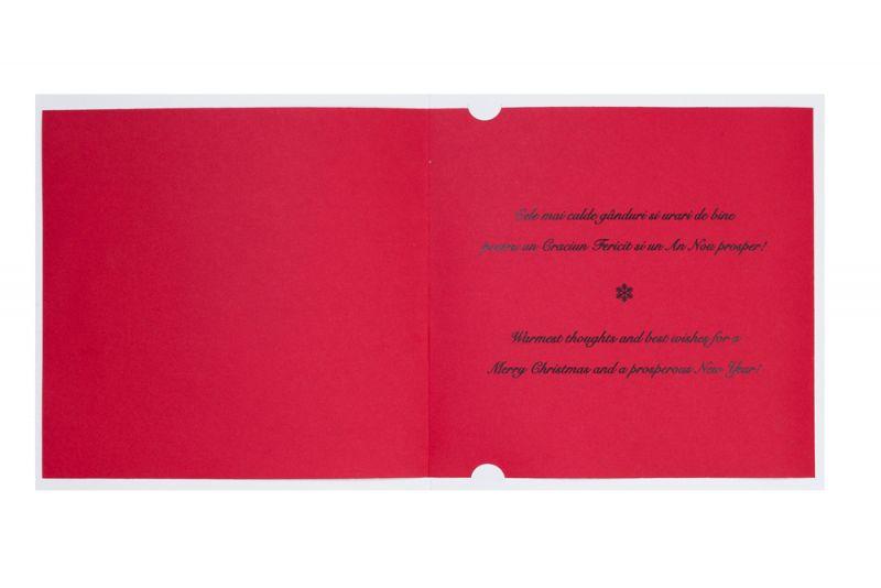 Felicitare Craciun cu bradut rosu decupat - poza 3