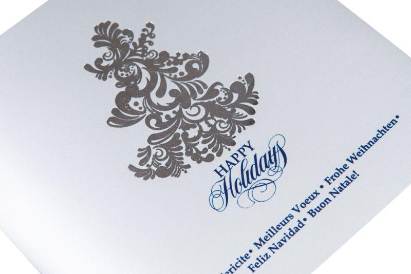 Felicitare Craciun eleganta cu bradut argintiu - poza 2