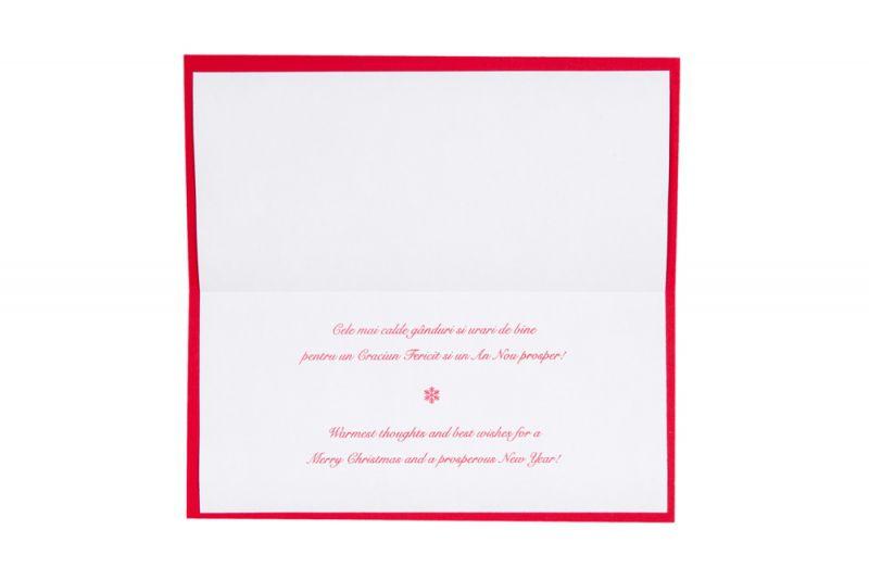 Felicitare Craciun rosie cu bradut argintiu - poza 3