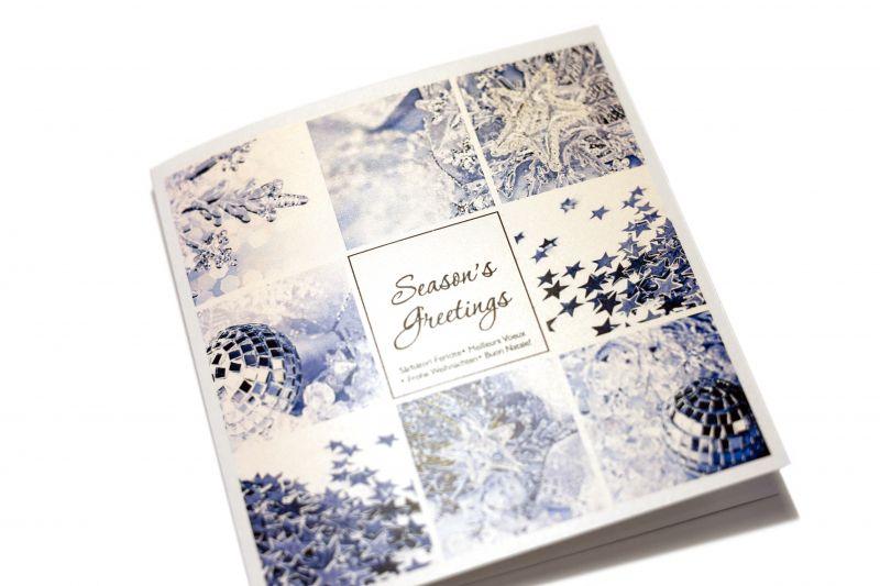 Felicitare de Craciun cu elemente de design albastre - poza 2