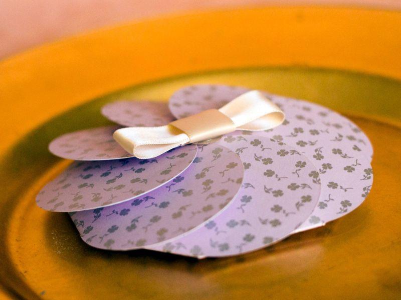 Invitatie botez fetita model floare lila - poza 3