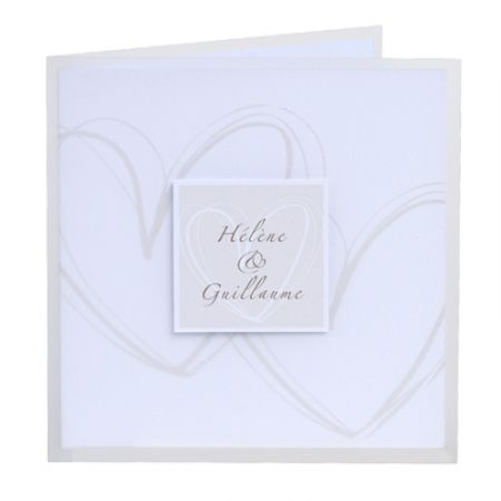 Invitatie nunta cu doua inimi - poza 1