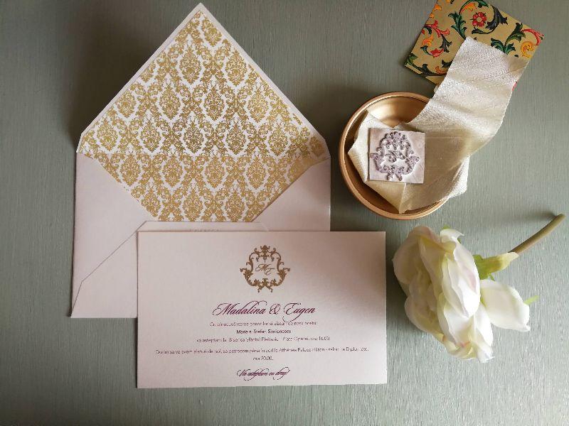 Invitatie nunta Gold Baroque