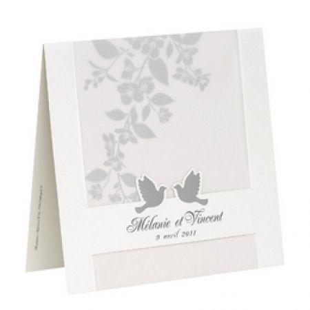 Invitatii nunta cu porumbei argintii - poza 1