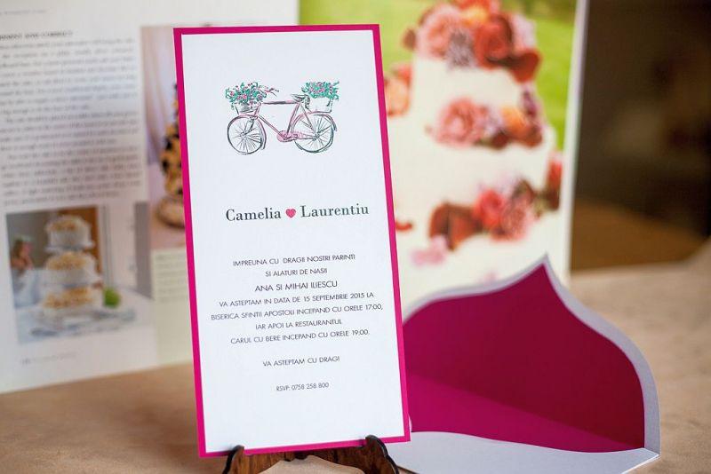 Invitatie nunta cu bicicleta - poza 1