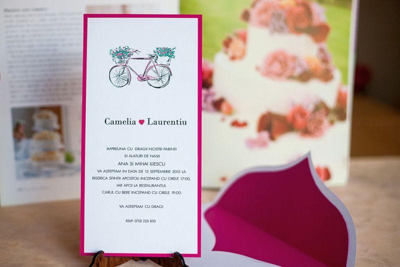 Invitatie nunta cu bicicleta - poza 2