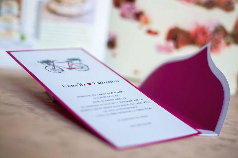 Invitatie nunta cu bicicleta - poza 4