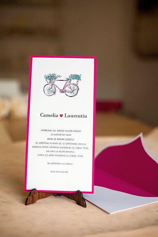 Invitatie nunta cu bicicleta - poza 3