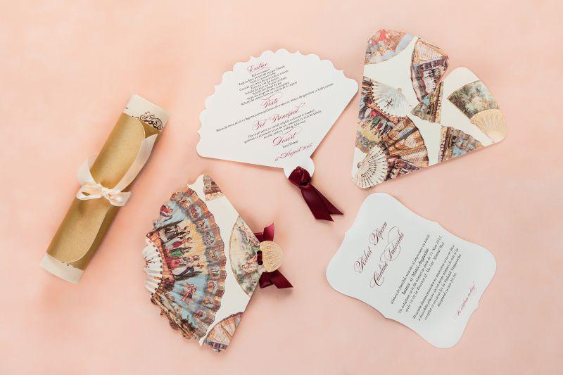 Invitatie nunta cu design evantaie - poza 2