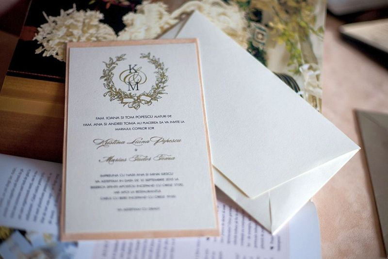 Invitatie nunta cu monograma miri - poza 2
