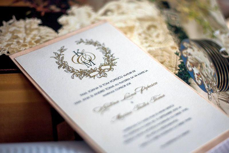 Invitatie nunta cu monograma miri - poza 1