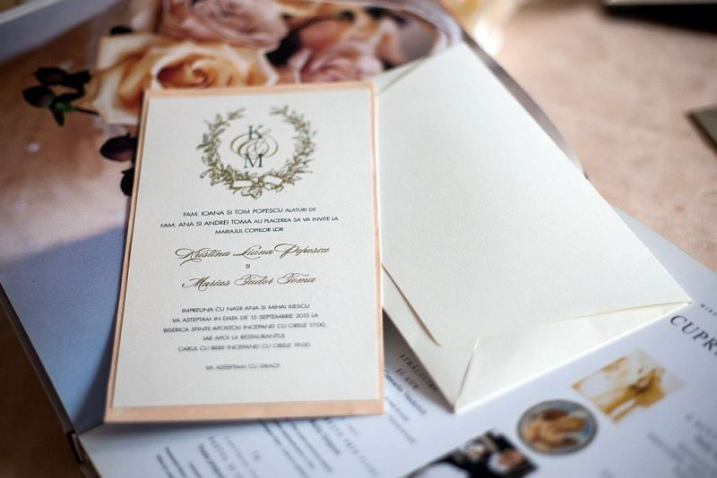 Invitatie nunta cu monograma miri - poza 3