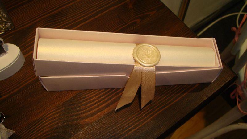 Invitatie nunta model scroll