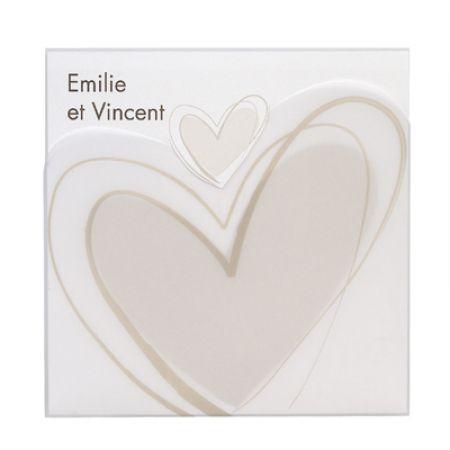 Invitatii nunta cu inima stilizata - poza 1