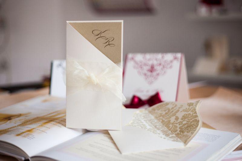 Invitatie nunta diafana ivoire si auriu - poza 1
