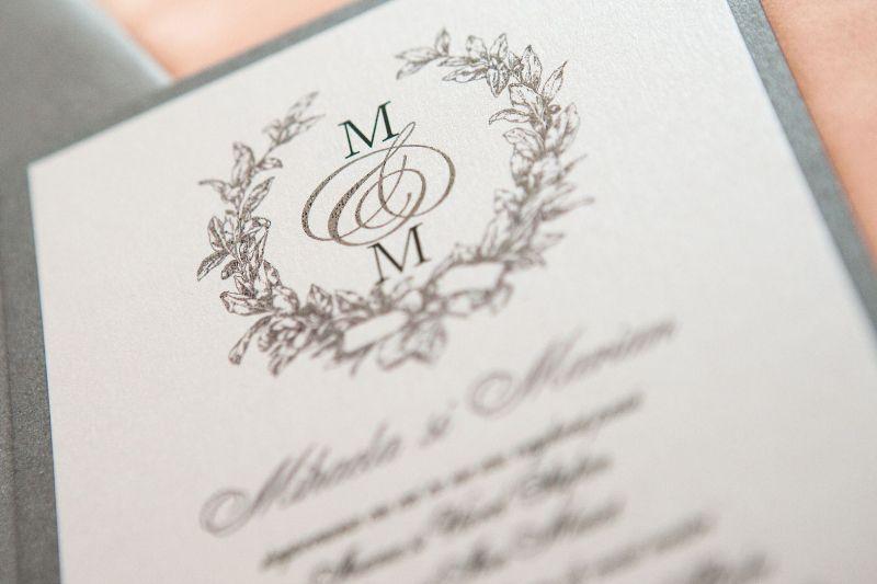 Invitatie nunta eleganta argintiu - poza 2