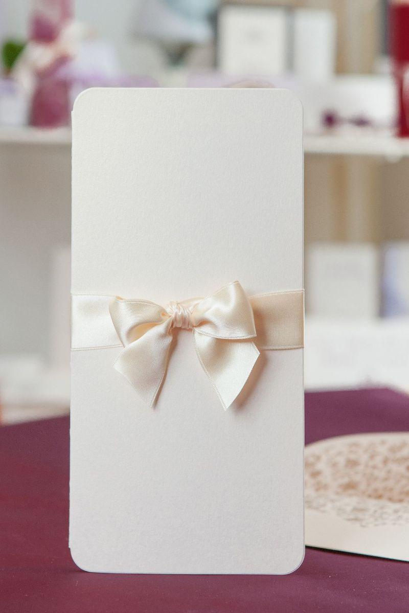 Invitatie nunta eleganta cu plic sidefat - poza 4