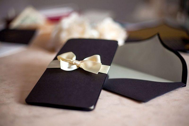 Invitatie nunta eleganta maro sidefat - poza 5