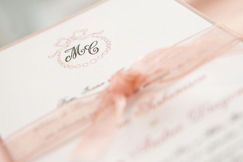 Invitatie nunta eleganta, tematica romantica - poza 2