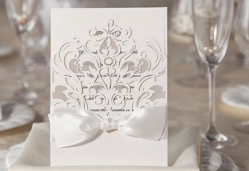 Invitatie nunta lasercut Baroque - poza 1