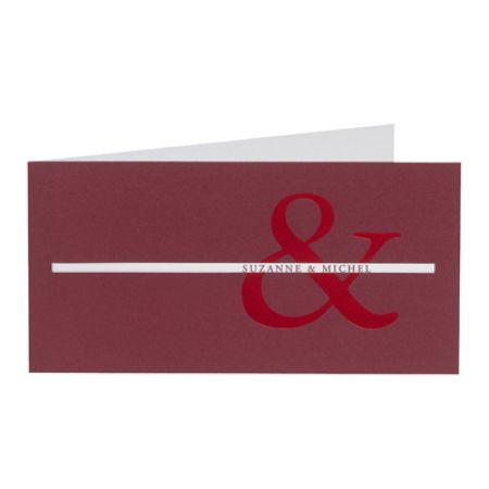 Invitatii nunta visiniu sidefat - poza 1