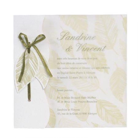 Invitatie nunta cu frunze - poza 1