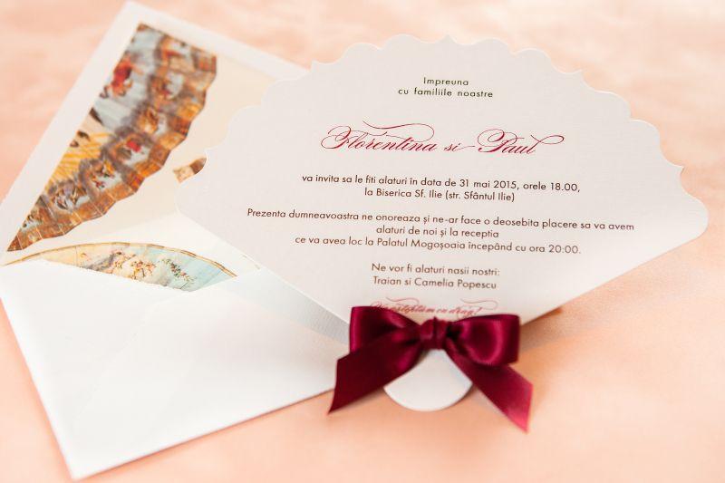Invitatie nunta model evantai - poza 1
