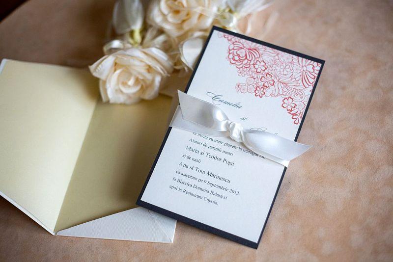 Invitatie nunta model romantic - poza 2