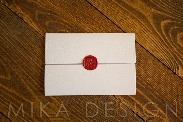 Invitatie nunta monograma relief - poza 3