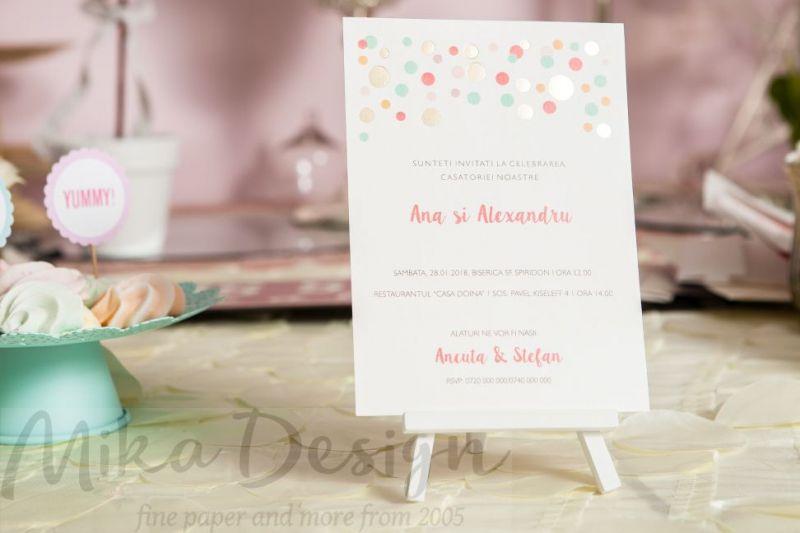 Invitatie nunta pastel - poza 1