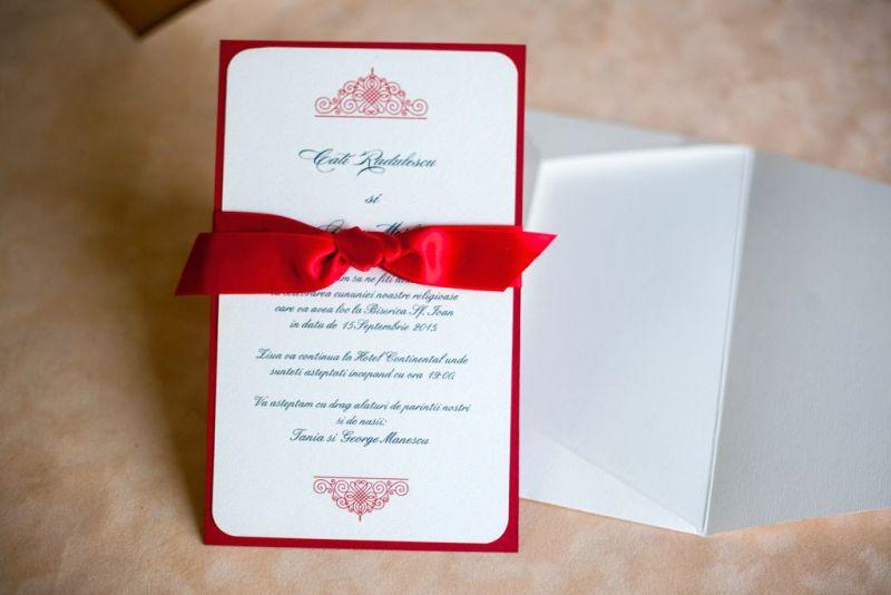 Invitatie nunta rosie - poza 1