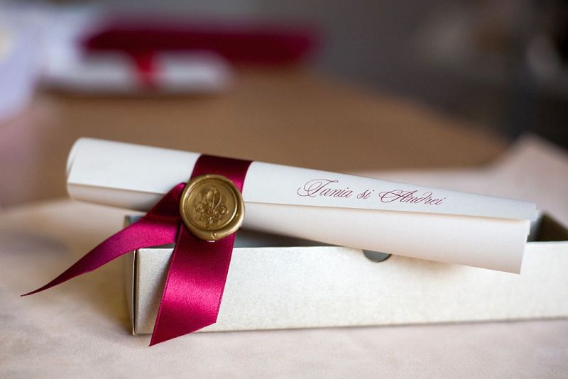 Invitatii nunta cu sigiliu - poza 2